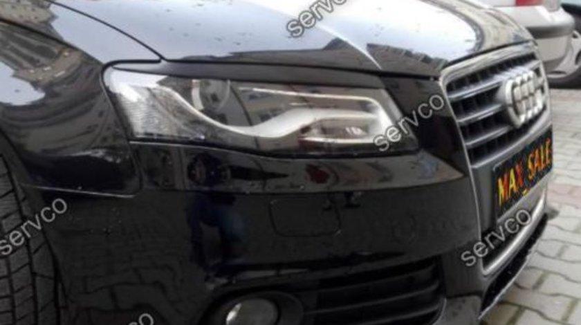 Set ornamente pleoape faruri Audi A4 B8 S4 RS4 Sline ABS v1