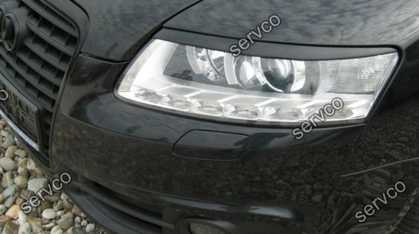 Set ornamente pleoape faruri Audi A6 C6 4F ABS S6 RS6 S line 2004-2011 v1