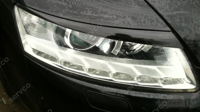 Set ornamente pleoape faruri Audi A6 C6 4F GRP S6 RS6 S line v2