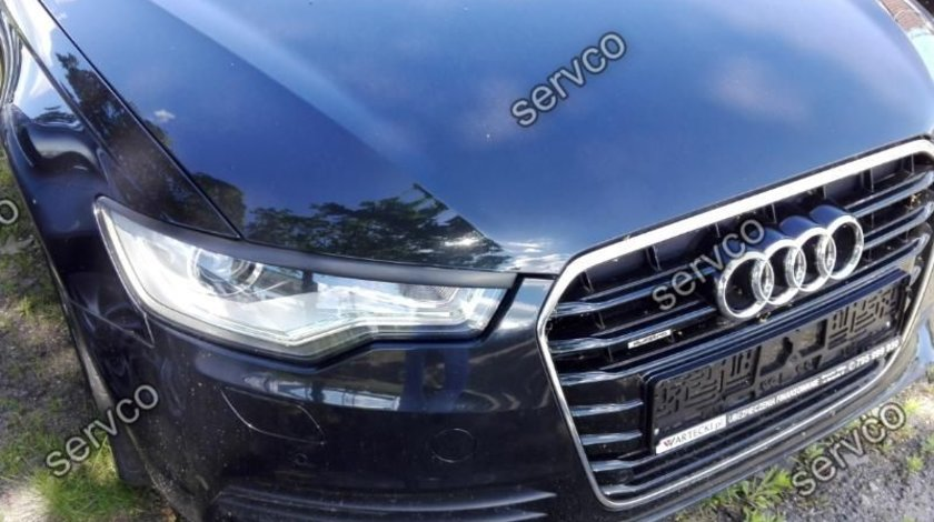 Set ornamente pleoape faruri Audi A6 C7 4G 2011-2014 Sline S6 Rs6 Abt ABS ver1