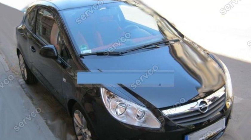 Set ornamente pleoape faruri Opel Corsa D plastic ABS 2006-2014 v1