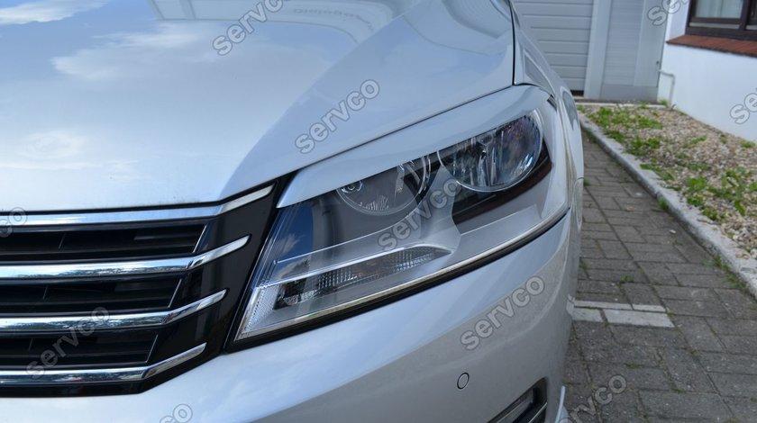 Set ornamente pleoape faruri VW Passat B7 3C facelift R-line 2010 2011 2012 2013 2014