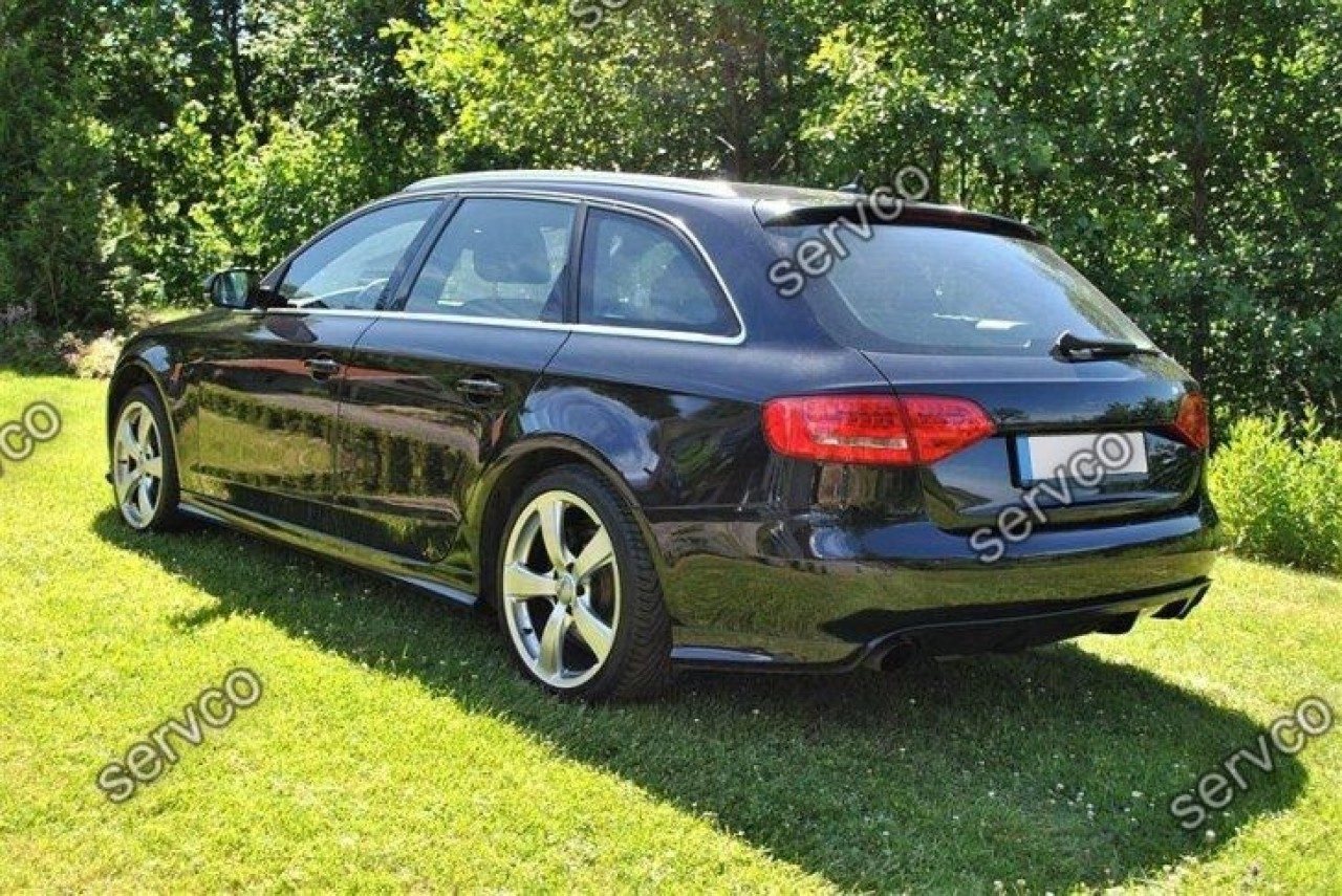 Set ornamente praguri laterale Votex sport tuning Audi A4 B8 Sline RS4 S4 2008-2015 v2