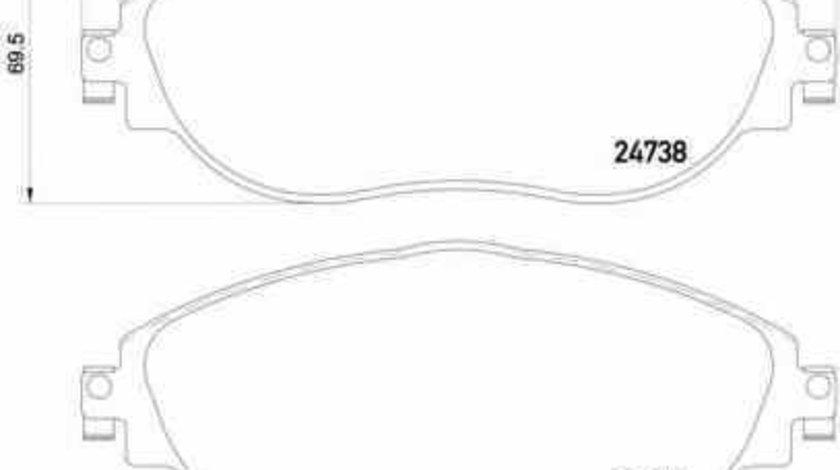 Set placute de frana AUDI A3 Sportback (8VA) BREMBO P 85 131