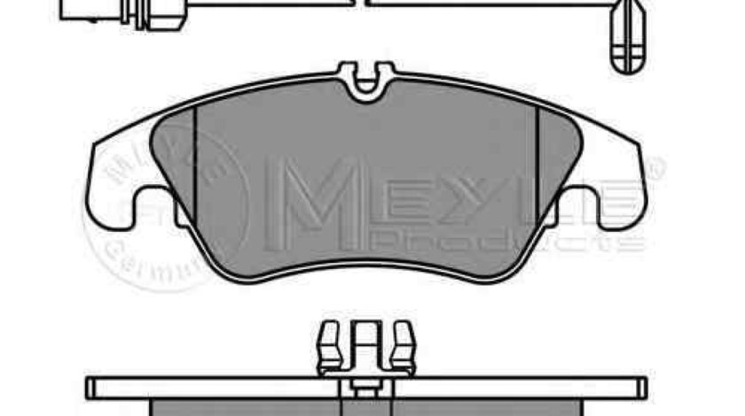 Set placute de frana AUDI A5 Sportback (8TA) MEYLE 025 247 4319/W