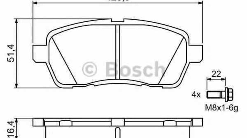 Set placute de frana FORD FIESTA VI BOSCH 0 986 494 195