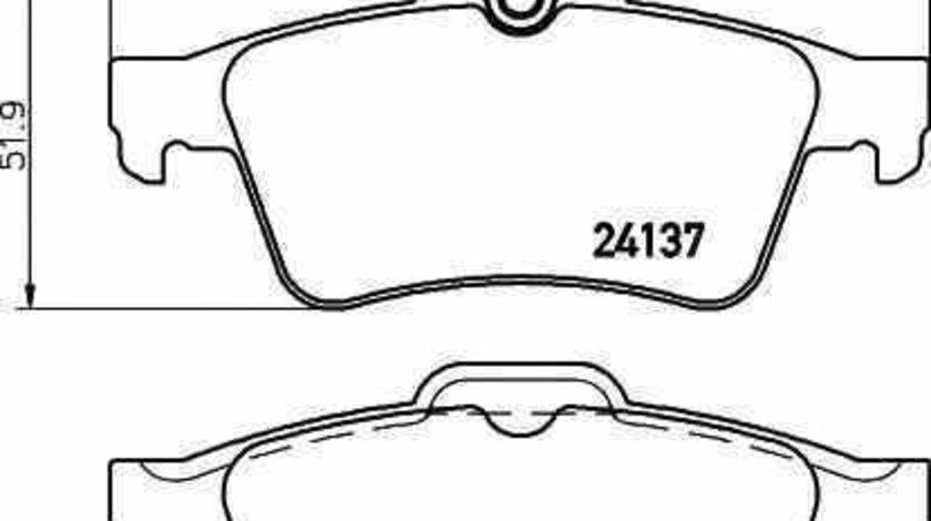 Set placute de frana FORD FOCUS II limuzina DA TEXTAR 2413781