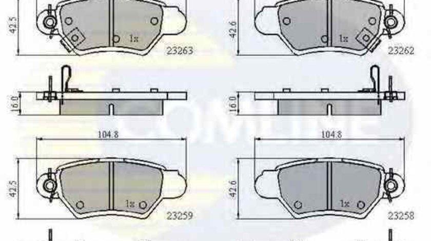 Set placute de frana HOLDEN ASTRA Cabriolet TS COMLINE CBP3750