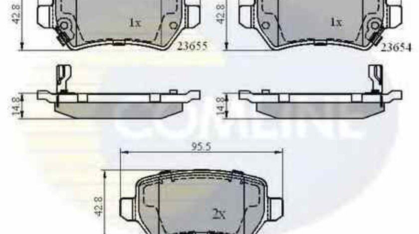 Set placute de frana HOLDEN ASTRA Cabriolet TS COMLINE CBP31551