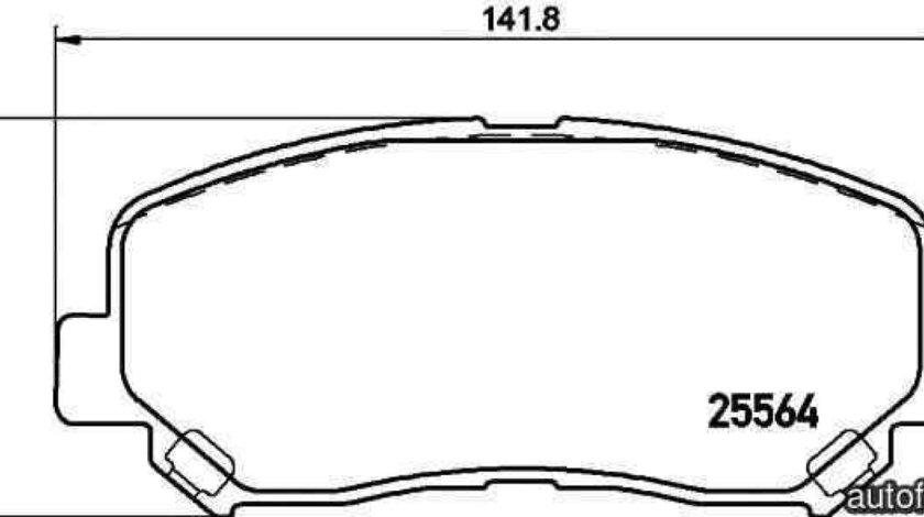 Set placute de frana MAZDA CX-5 (KE, GH) TEXTAR 2556401