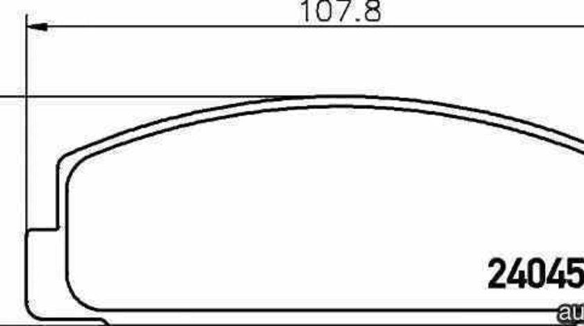 Set placute de frana MAZDA RX 7 II FC TEXTAR 2404501