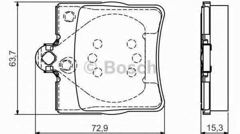 Set placute de frana MERCEDES-BENZ C-CLASS combi S202 BOSCH 0 986 495 080