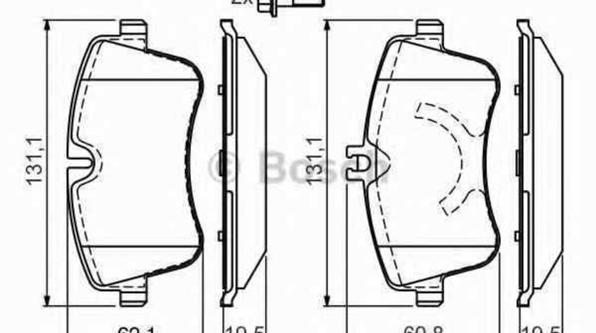 Set placute de frana MERCEDES-BENZ C-CLASS T-Model S203 BOSCH 0 986 424 517
