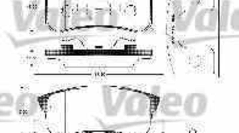 Set placute de frana MITSUBISHI OUTLANDER II CWW VALEO 598520