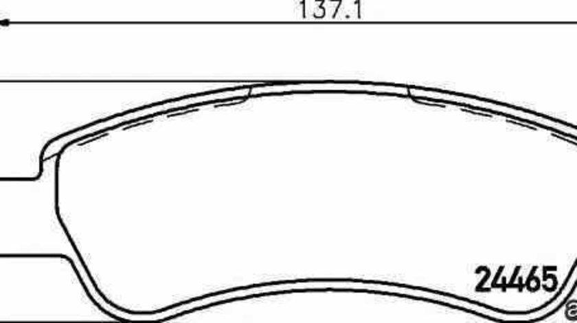 Set placute de frana PEUGEOT BOXER caroserie HELLA 8DB 355 012-911