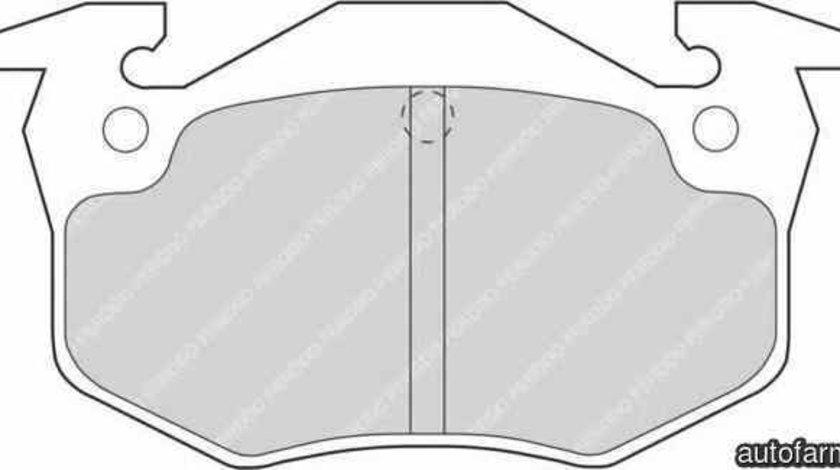 Set placute de frana RENAULT CLIO I B/C57 5/357 FERODO FDB558