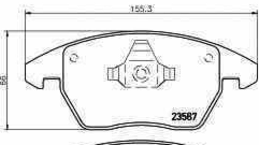 Set placute de frana SKODA FABIA NJ3 TEXTAR 2358701