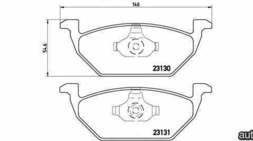 Set placute de frana VW FOX (5Z1, 5Z3) BREMBO P 85 041