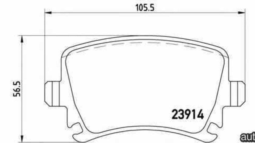 Set placute de frana VW GOLF VI (5K1) BREMBO P 85 073