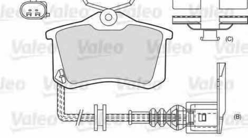 Set placute de frana VW JETTA I 16 VALEO 598180