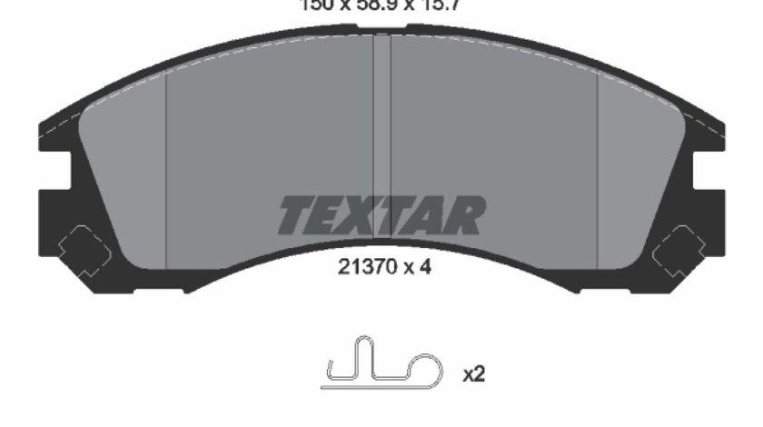 Set placute frana disc CITROËN C-CROSSER ENTERPRISE Producator TEXTAR 2137001