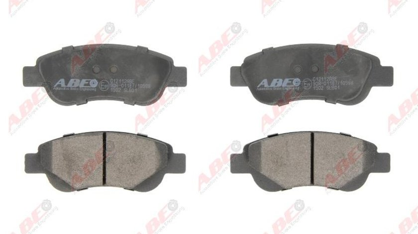 set placute frana disc CITROËN C1 PM PN Producator ABE C12112ABE