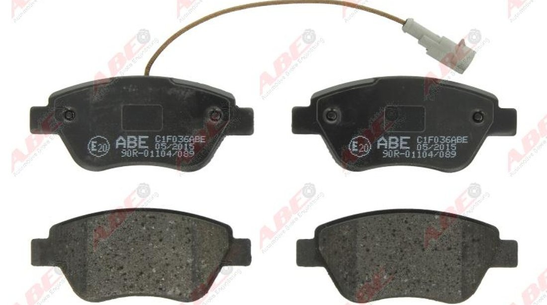 set placute frana disc FIAT STILO 192 Producator ABE C1F036ABE