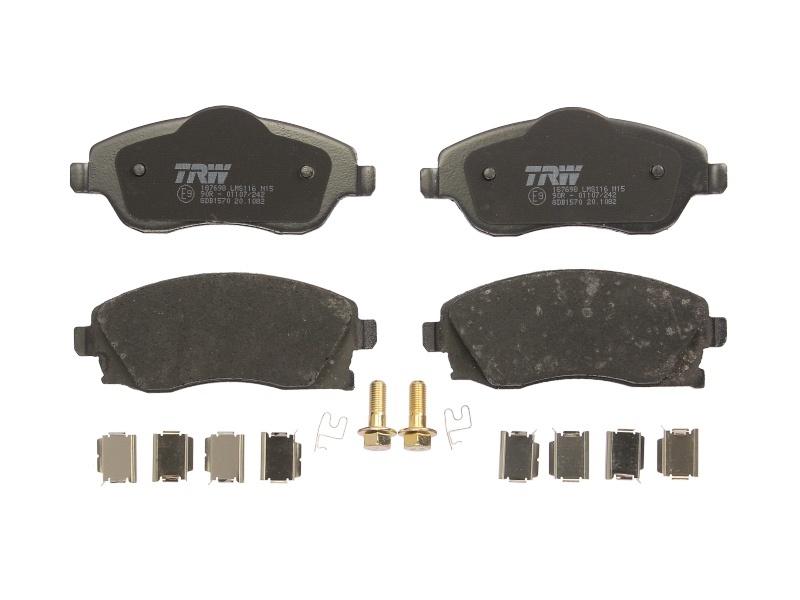 Set placute frana fata TRW GDB1570 Opel Meriva 2003-2010; Corsa C 2000-2006; Combo , Tigra Twintop ; Kft Auto