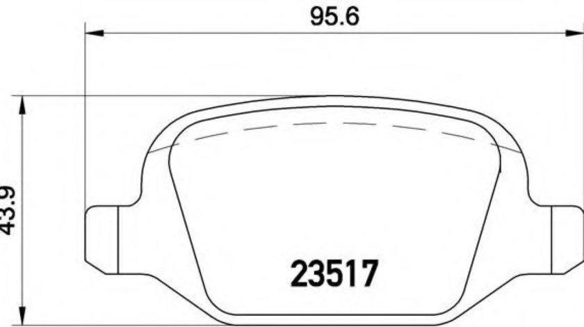 Set placute frana,frana disc ALFA ROMEO 147 (937) (2000 - 2010) BREMBO P 23 065 - produs NOU