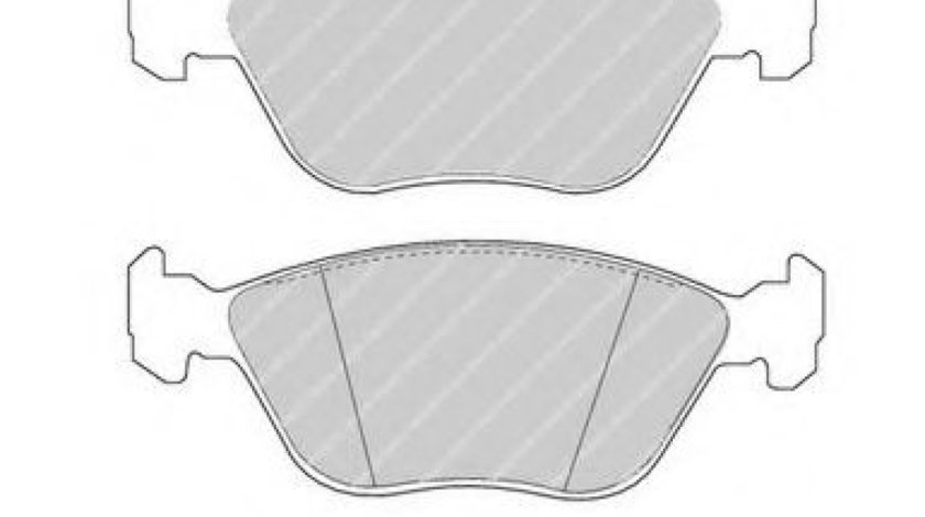 Set placute frana,frana disc ALFA ROMEO 147 (937) (2000 - 2010) FERODO FDB1052 produs NOU