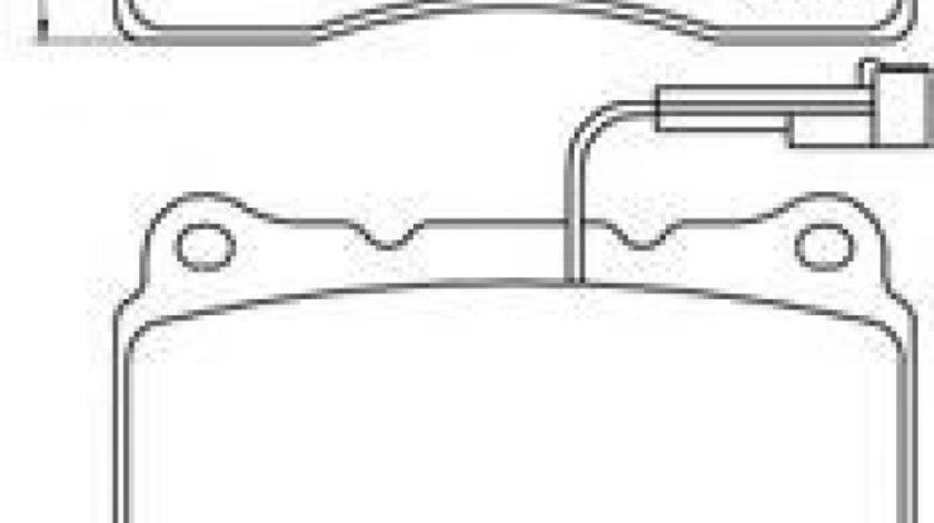 Set placute frana,frana disc ALFA ROMEO SPIDER (939_, 939) (2006 - 2010) BREMBO P 23 078 piesa NOUA