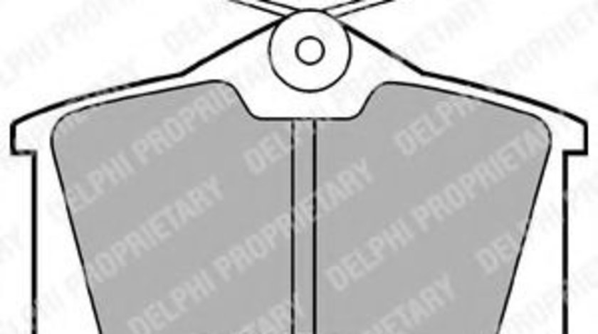 Set placute frana,frana disc AUDI A2 (8Z0) (2000 - 2005) DELPHI LP565 produs NOU