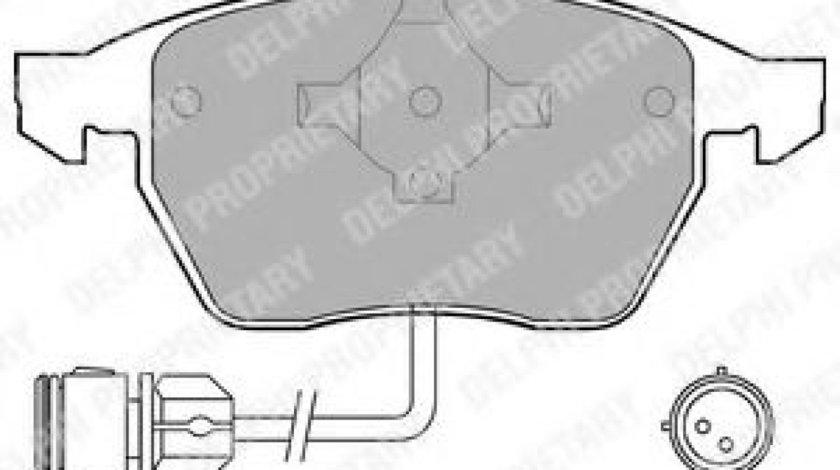 Set placute frana,frana disc AUDI A4 (8D2, B5) (1994 - 2001) DELPHI LP784 produs NOU