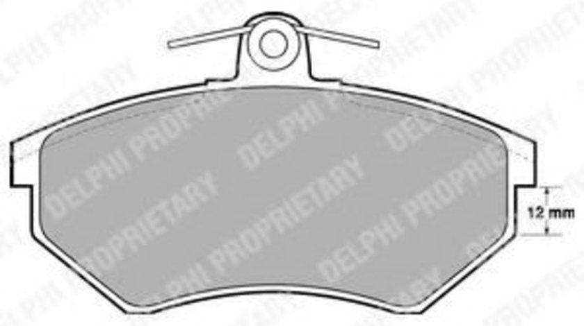 Set placute frana,frana disc AUDI A4 (8D2, B5) (1994 - 2001) DELPHI LP778 produs NOU