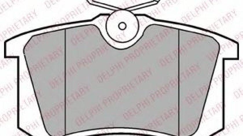 Set placute frana,frana disc AUDI A4 (8D2, B5) (1994 - 2001) DELPHI LP2255 produs NOU