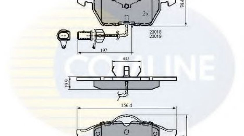 Set placute frana,frana disc AUDI A4 (8E2, B6) (2000 - 2004) COMLINE CBP11025 produs NOU