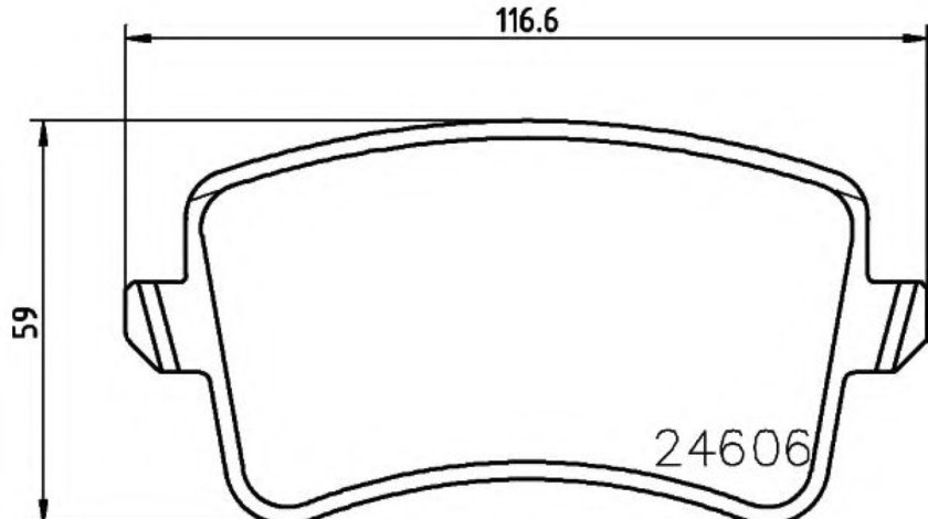 Set placute frana,frana disc AUDI A4 (8K2, B8) (2007 - 2015) TEXTAR 2460601 piesa NOUA