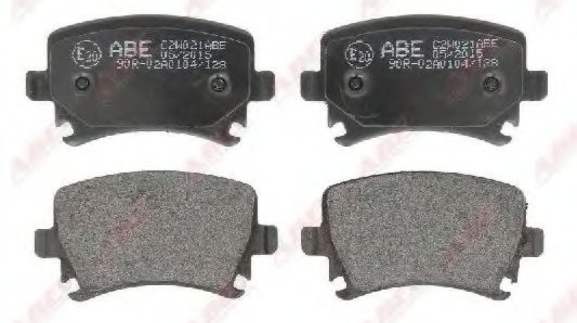 Set placute frana,frana disc AUDI A4 Cabriolet (8H7, B6, 8HE, B7) (2002 - 2009) ABE C2W021ABE produs NOU