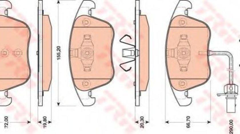 Set placute frana,frana disc AUDI A5 Cabriolet (8F7) (2009 - 2016) TRW GDB1814 produs NOU