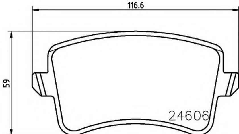 Set placute frana,frana disc AUDI A5 Cabriolet (8F7) (2009 - 2016) TEXTAR 2460601 piesa NOUA