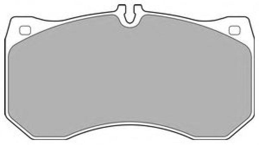 Set placute frana,frana disc AUDI A7 Sportback (4GA, 4GF) (2010 - 2016) DELPHI LP2713 produs NOU