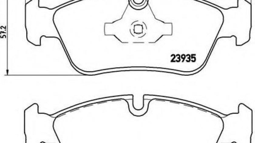 Set placute frana,frana disc BMW Seria 1 (E81) (2006 - 2012) BREMBO P 06 035 piesa NOUA