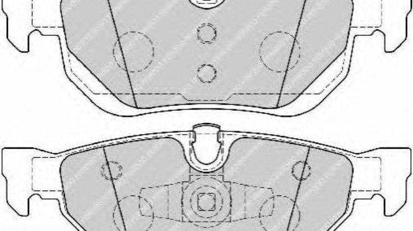 Set placute frana,frana disc BMW Seria 3 (E90) (2005 - 2011) FERODO FDB1807 piesa NOUA