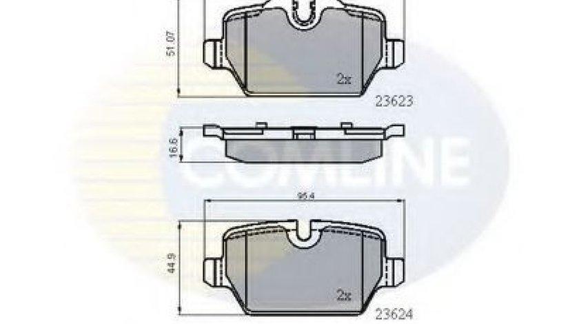 Set placute frana,frana disc BMW Seria 3 (E90) (2005 - 2011) COMLINE CBP01710 piesa NOUA