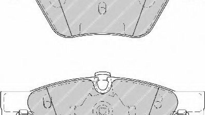Set placute frana,frana disc BMW Seria 3 (E90) (2005 - 2011) FERODO FDB1773 piesa NOUA