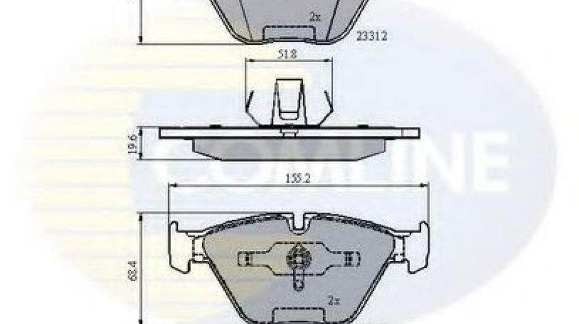 Set placute frana,frana disc BMW Seria 3 (E90) (2005 - 2011) COMLINE CBP02033 piesa NOUA