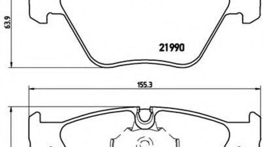 Set placute frana,frana disc BMW Seria 5 (E39) (1995 - 2003) BREMBO P 06 065 piesa NOUA