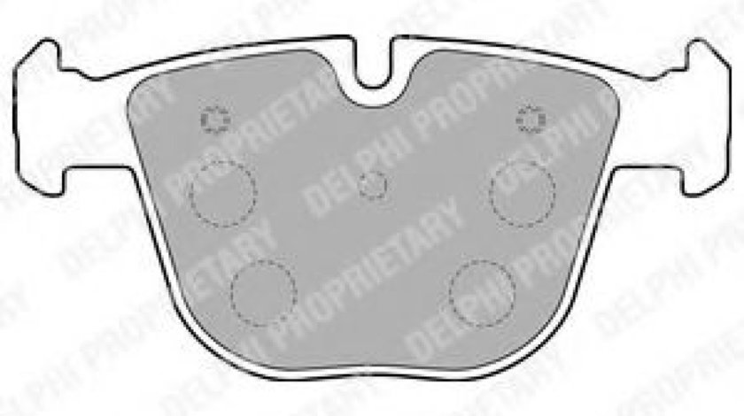 Set placute frana,frana disc BMW X5 (E70) (2007 - 2013) DELPHI LP1793 piesa NOUA