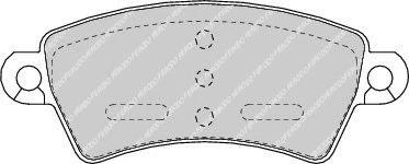 Set placute frana,frana disc CITROEN XSARA Cupe (N0) (1998 - 2005) FERODO FDB1370 piesa NOUA