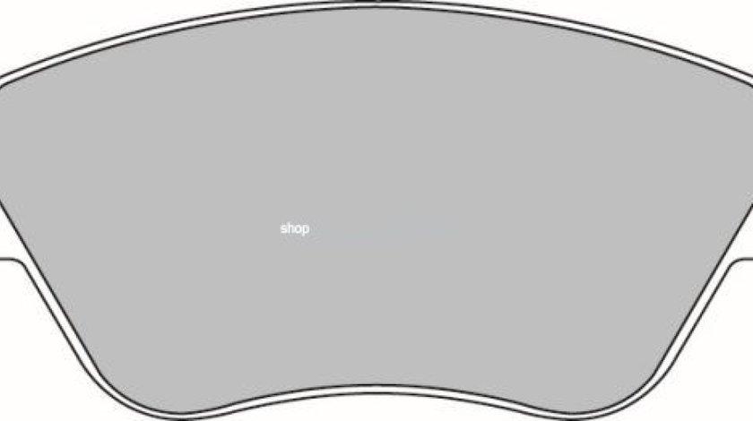 Set placute frana,frana disc FIAT ALBEA (178) (1996 - 2009) KRIEGER 0950006353 piesa NOUA